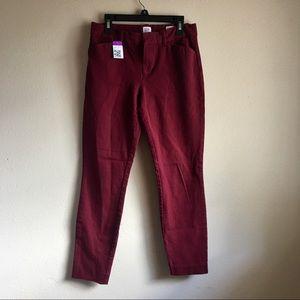 NWT GAP Maroon Slimming Pants